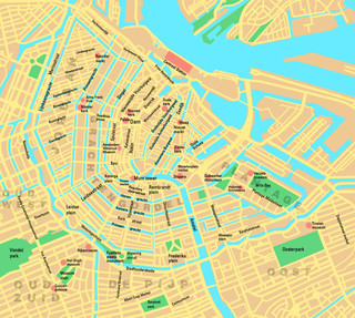 Map of Amsterdam neighborhoods & quarters